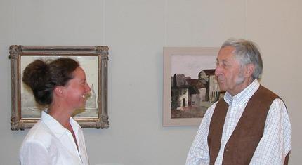 Ausstellung Werner Wittig im Jahr 2005, der Künstler und seine Galeristin