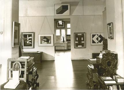 Ausstellung Hermann Glöckner im Jahr 1979, Foto: Ernst Hirsch
