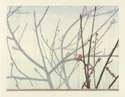Brian Curling, March, 2015, Farbholzschnitt auf Japanpapier, Auflage 10 Exemplare Motiv 39 x 57, Blatt 49 x 67 cm, Foto H. Boswank