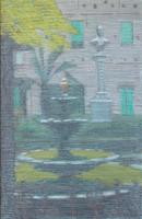 Klaus Dennhardt, Dolcedo/Italien, 2010, Pastell, Öl/Papier auf Leinwand 100 x 65 cm