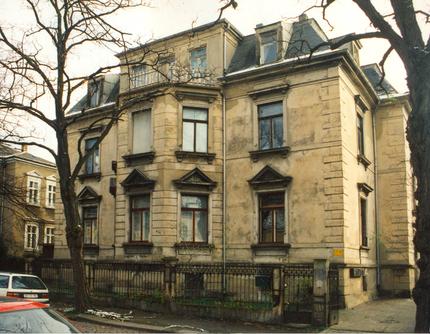 Zittauer Straße 12, im ersten Obergeschoss befindet sich die Galerie-Etage
