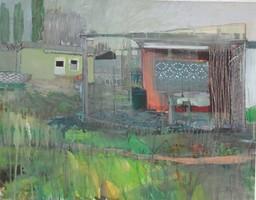 Franziska Hesse. Kleingartenverein IV 2009, Mischtechnik/Papier, signiert, 49,5 x 64 m
