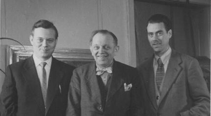 Heinrich Kühl mit seinen beiden Söhnen, links Christoph, rechts Johannes