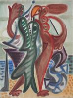 Hans Christoph. Der große Fisch I 1748. 1948. Aquarell, signiert