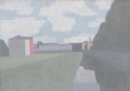 Klaus Dennhardt, Löbtau (Dresden), 2014, Acryl auf Jute, 66 x 96 cm