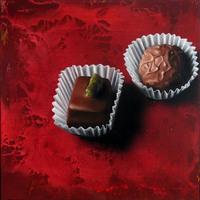 Michael Lauterjung, Big Cookies, 2009, Acryl, Lack, Öl auf Holz, 122 x 122 cm