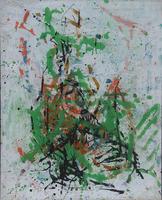 Gerda Lepke, Buschformation, (Busch an der Elbe), 1976, Öl auf Leinwand,  102 x 81 cm, gerahmt