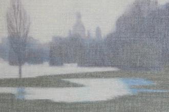 Ostragehege, 2011 Pastell/ Papier, Leinwand 70 x 100 cm