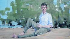 Tilo Ettl, Nachdenklicher, 2017, Öl/Leinwand, 67 x 113 cm