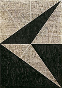 Hermann Glöckner, Keil nach links in Schwarz und Grau, Tempera, Faltung und Monotypie, sign., dat., bez. 10/30, 50 x 36 cm
