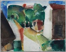 Günter Hein, Sagard auf Rügen, 1994, Aquarell, signiert, 34,7 x 44,5 cm
