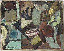 Hans Jüchser, Abstrakte Komposition, 1967, Öl auf Hartfaser, sign., dat., 24,7 x 31 cm
