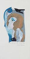 Michael Hofmann, Das Leuchten der Stille, 2018, Farbholzschnitt, Auflage 1/15, St. ca. 39 x 29 cm, Bl. 65 x 33 cm