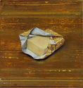 Michael Lauterjung, Butter, 2019, Acryl, Lack, Öl auf Holz, 51 x 48 cm