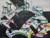 Peter Hofmann, Komposition vor Schnee, 2017, Öl auf Leinwand, 60 x 80 cm