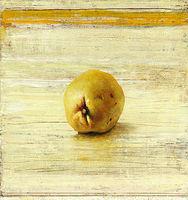 Michael Lauterjung, Quitte, 2016, Acryl, Lack, Öl auf Holz, 51 x 48 cm