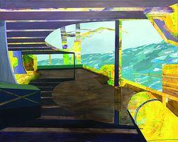 Susanne Wurlitzer, Uncharted IV, 2012, Acryl auf Leinwand, 80 x 100 cm