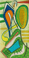 Veit Hofmann, Jazz, 2014, Öl auf Leinwand, signiert, 120 x 60 cm